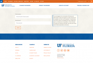 New-UF Authentication GatorLink Login
